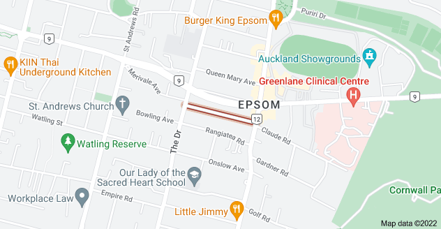 Location of Arcadia Road