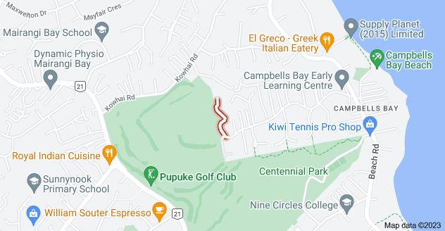 Location of Tree Fern Trail