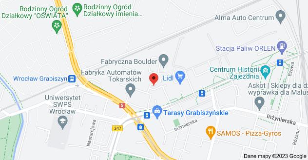 Mapa: Grabiszyńska 273, 53-437 Wrocław