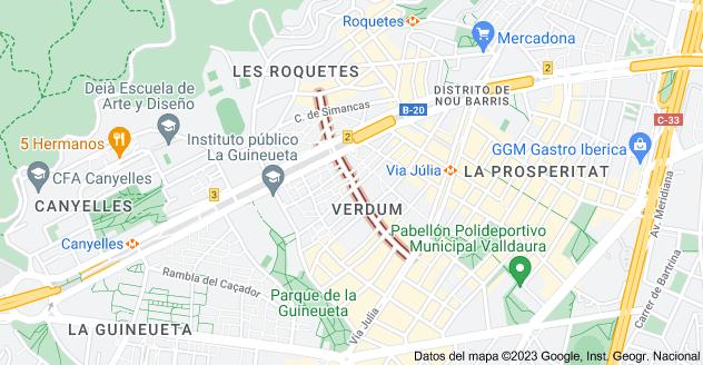 Mapa de Carrer d'Almansa, Barcelona, España