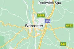 Location of Worcester