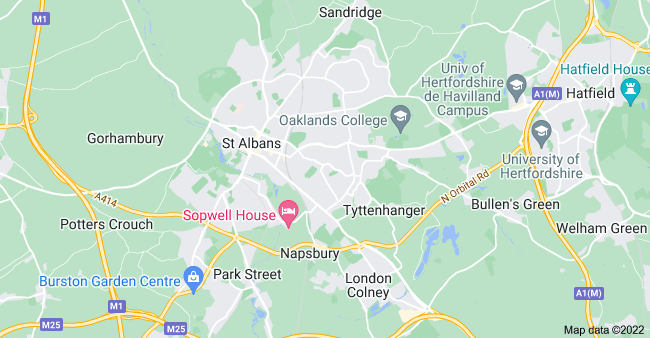 Map of St Albans