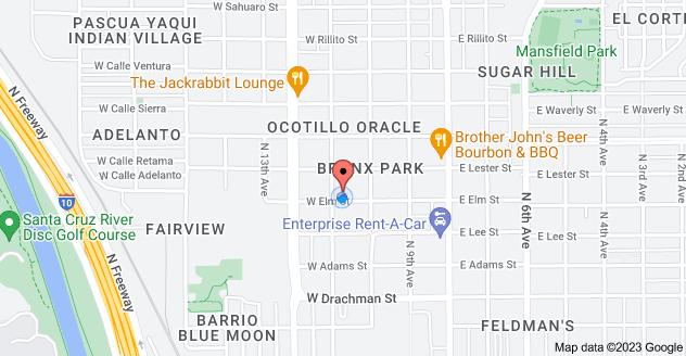 Map of 238 W Elm St, Tucson, AZ 85705