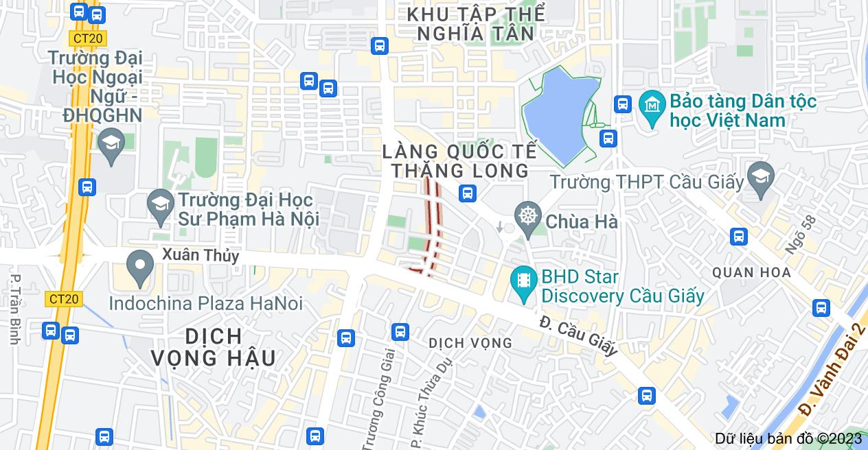 Bản đồ của Trần Quý Kiên, Dịch Vọng, Cầu Giấy, Hà Nội