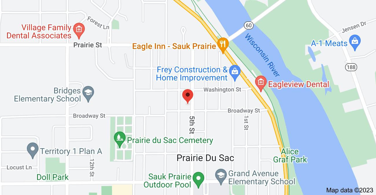 Map of 405 5th St, Prairie Du Sac, WI 53578