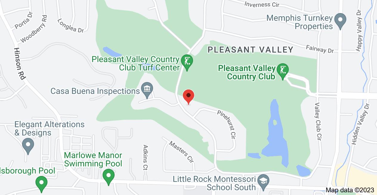 Map of 464 Valley Club Cir, Little Rock, AR 72212
