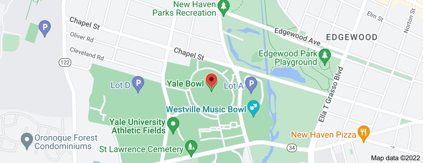 Location of Yale Bowl