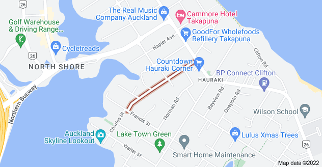 Location of Hart Road
