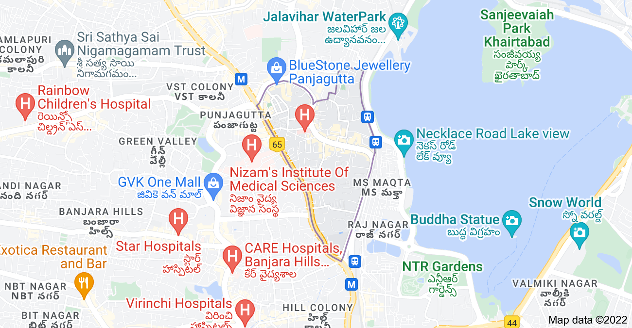 Map of Somajiguda, Hyderabad, Telangana, India