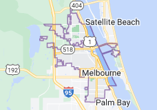 Map of Melbourne, Florida