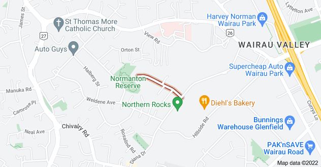 Location of Ashfield Road