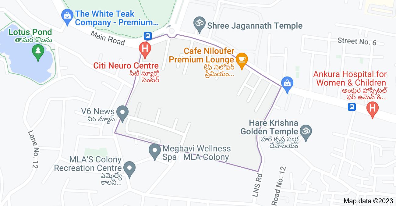 Map of Venkateswara Colony, Banjara Hills, Hyderabad, Telangana 500034, India