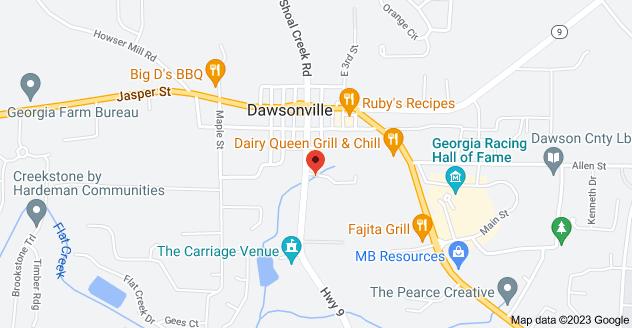 Map of 169 GA-9, Dawsonville, GA 30534