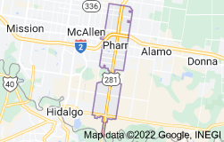 Map of Pharr, Texas