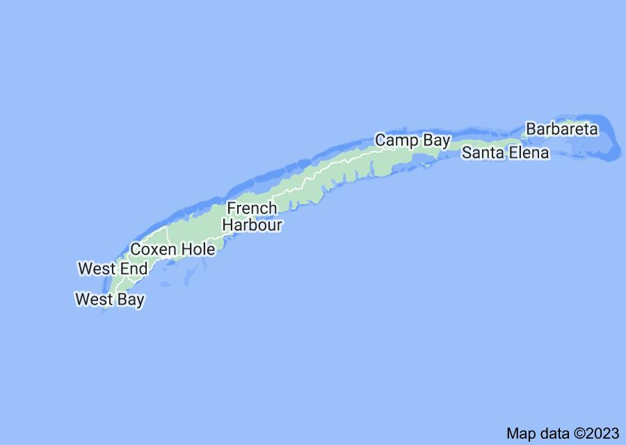 Location of Roatán