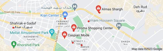 Map of مراکز خرید مشهد