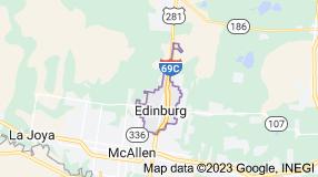 Map of Edinburg, Texas