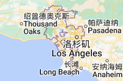 Location of 洛杉矶