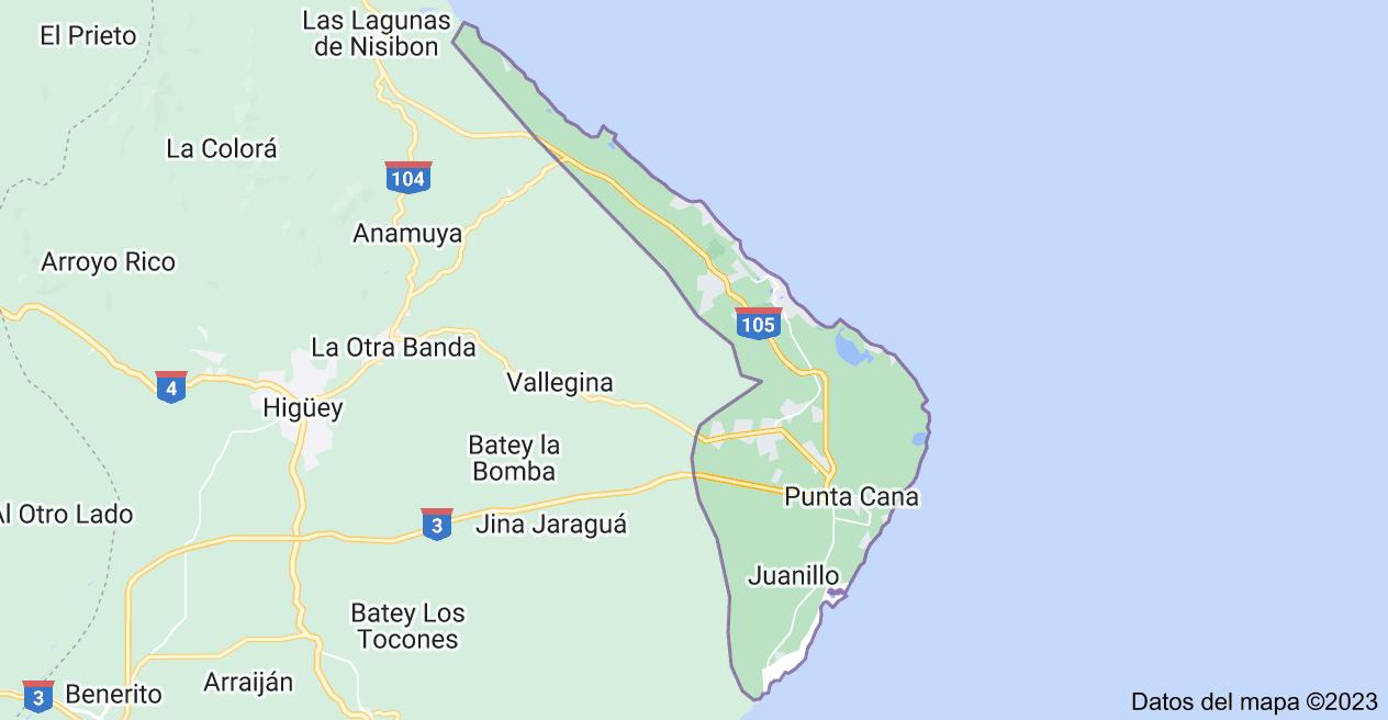 Mapa de Punta Cana, República Dominicana