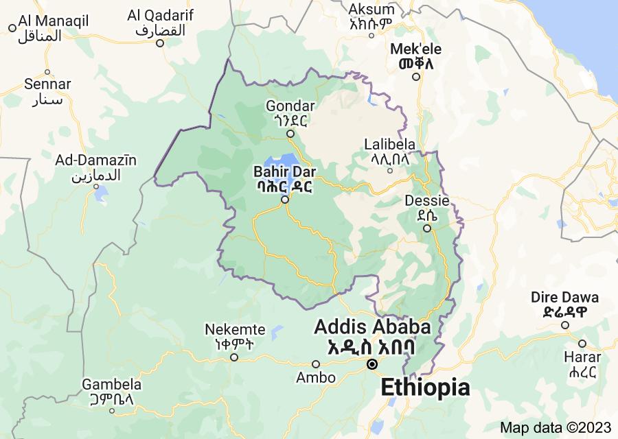 Location of Amhara Region