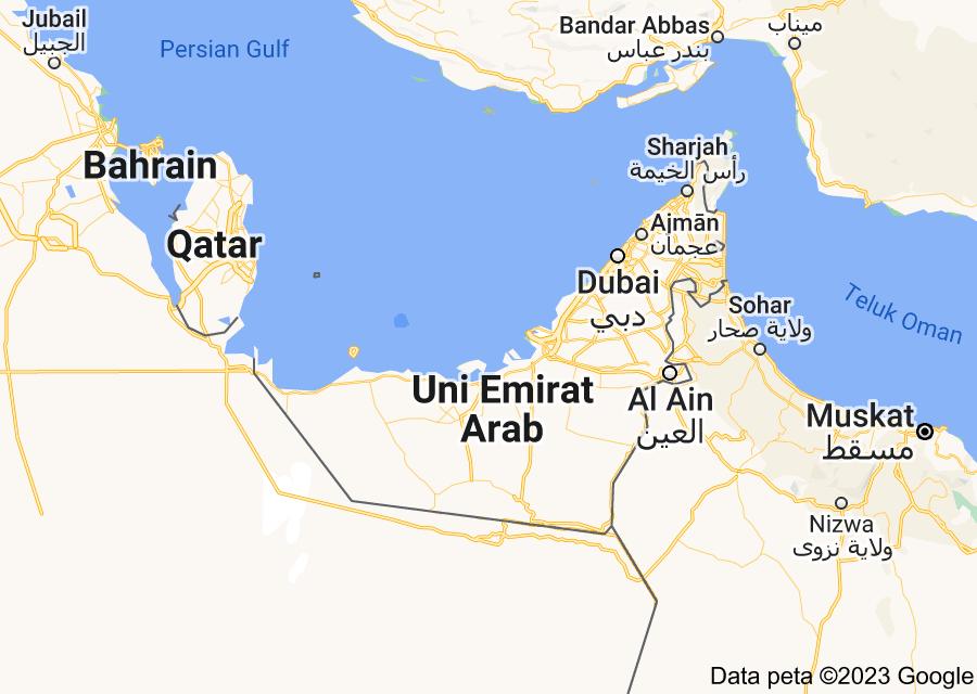 Location of Uni Emirat Arab