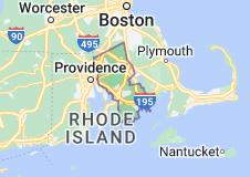 Map of Bristol County, Massachusetts