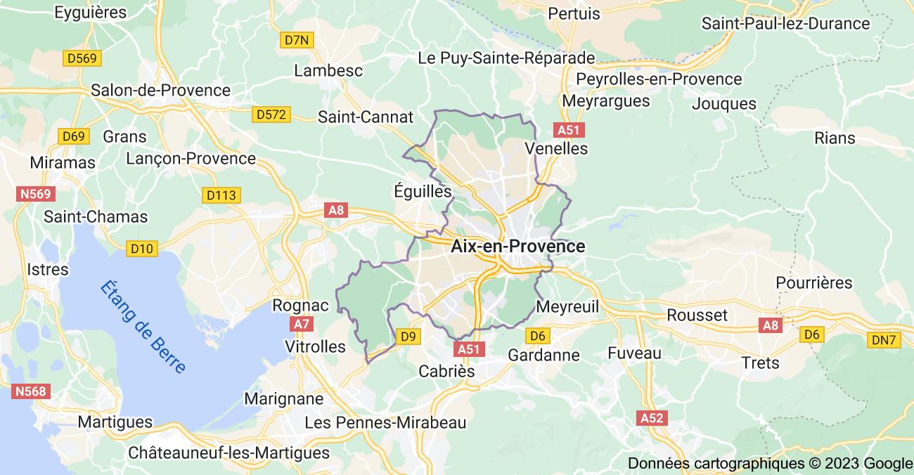Aix-en-Provence: carte