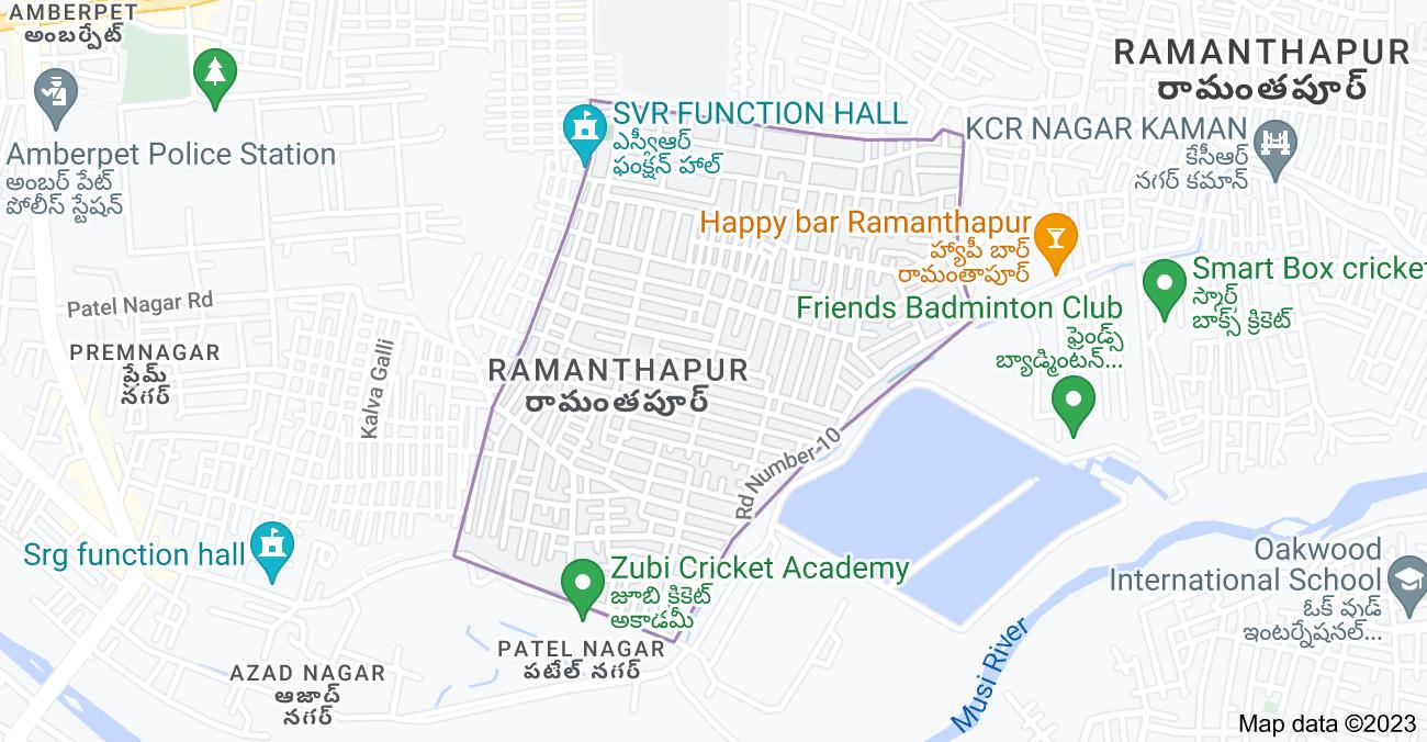 Map of Ramanthapur, Hyderabad, Telangana 500013, India