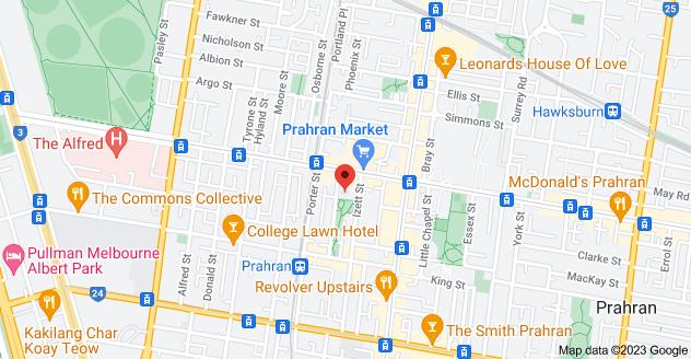 Map of 40 Grattan St, Prahran VIC 3181