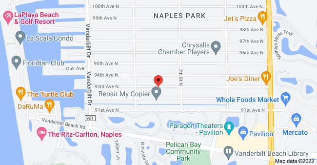 Map of 650 93rd Ave N, Naples, FL 34108