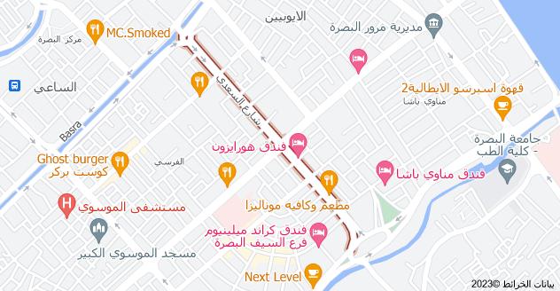خريطة شارع السعدي، بصرة