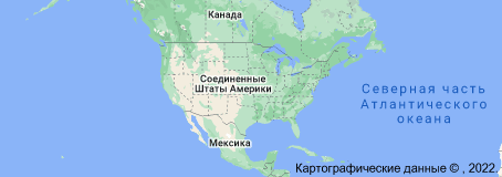 Location of Соединённые Штаты Америки