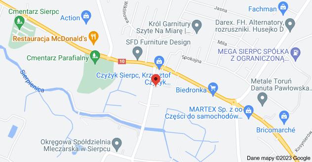 Mapa: Wojska Polskiego 28A, 09-200 Sierpc