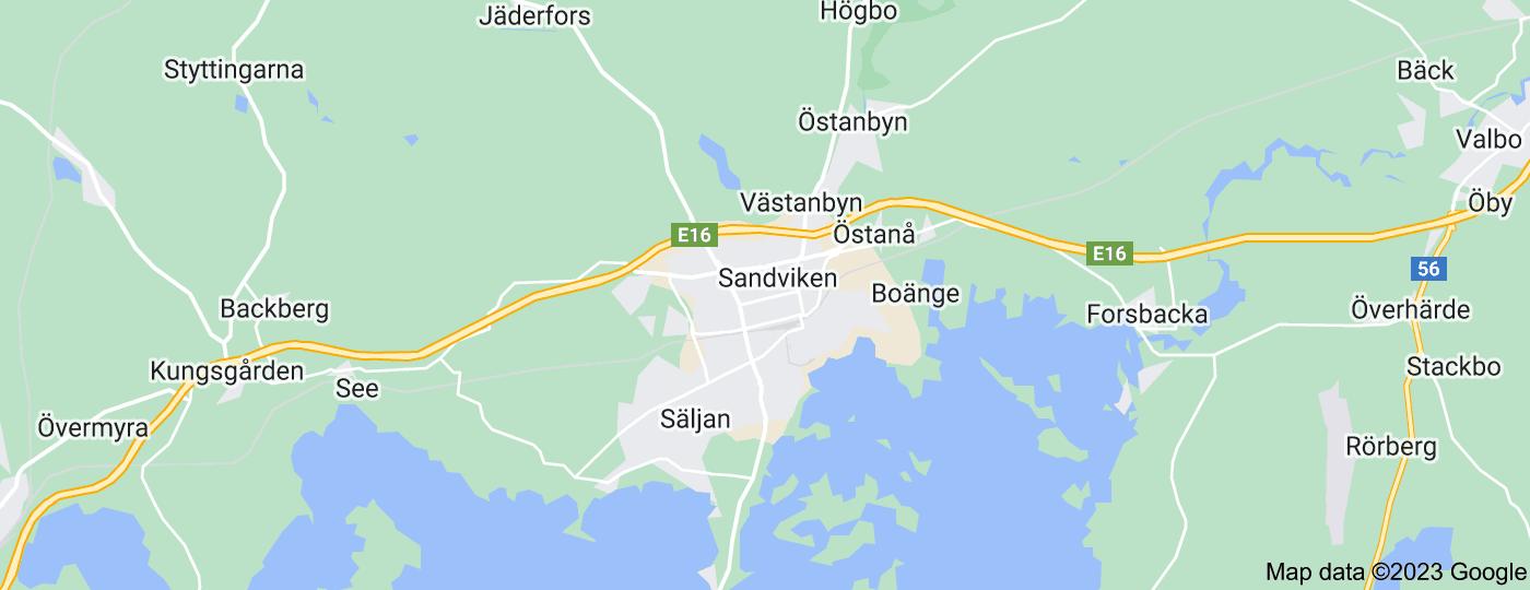 Location of Sandviken