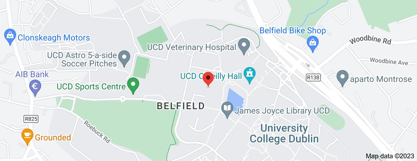 Location of University College Dublin