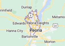 Map of Peoria, Illinois