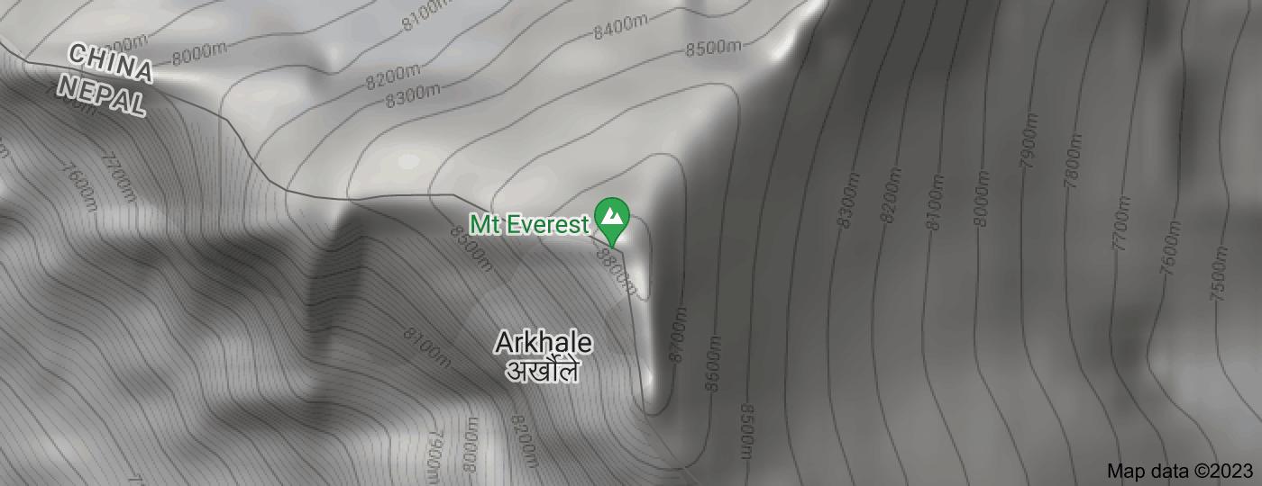 Location of Mount Everest