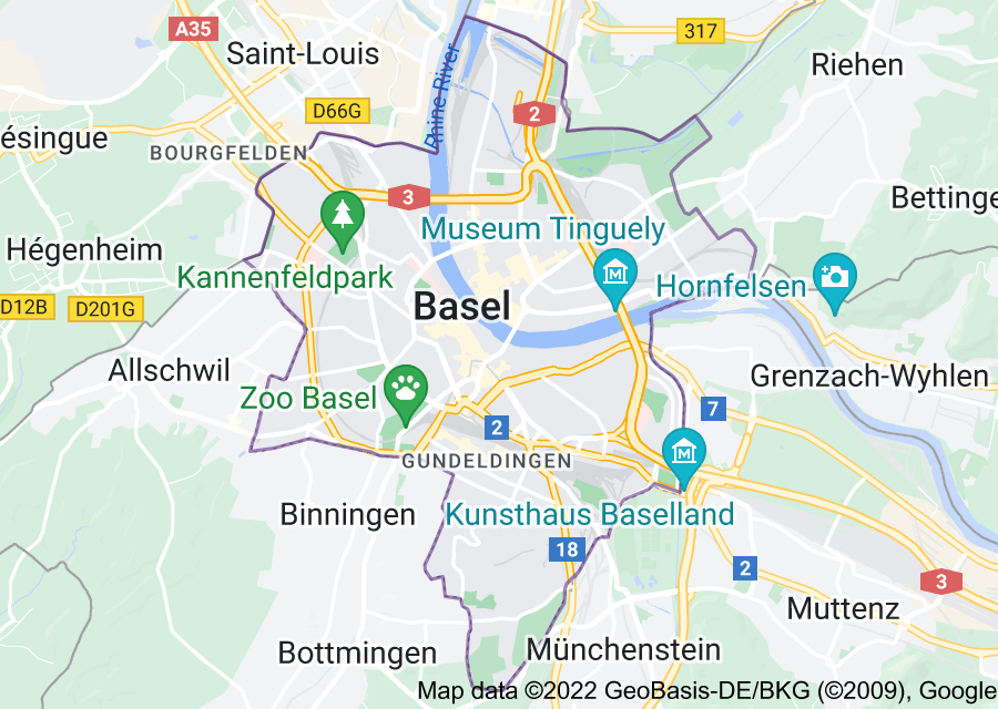 Location of Basel