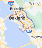 Map of Oakland, California