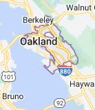 Map of Oakland, California