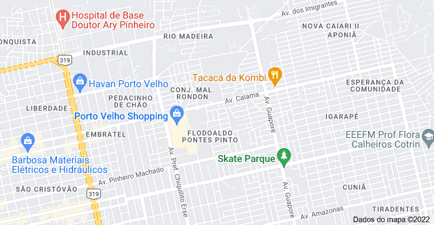 Mapa de Flodoaldo Pontes Pinto, Porto Velho - RO