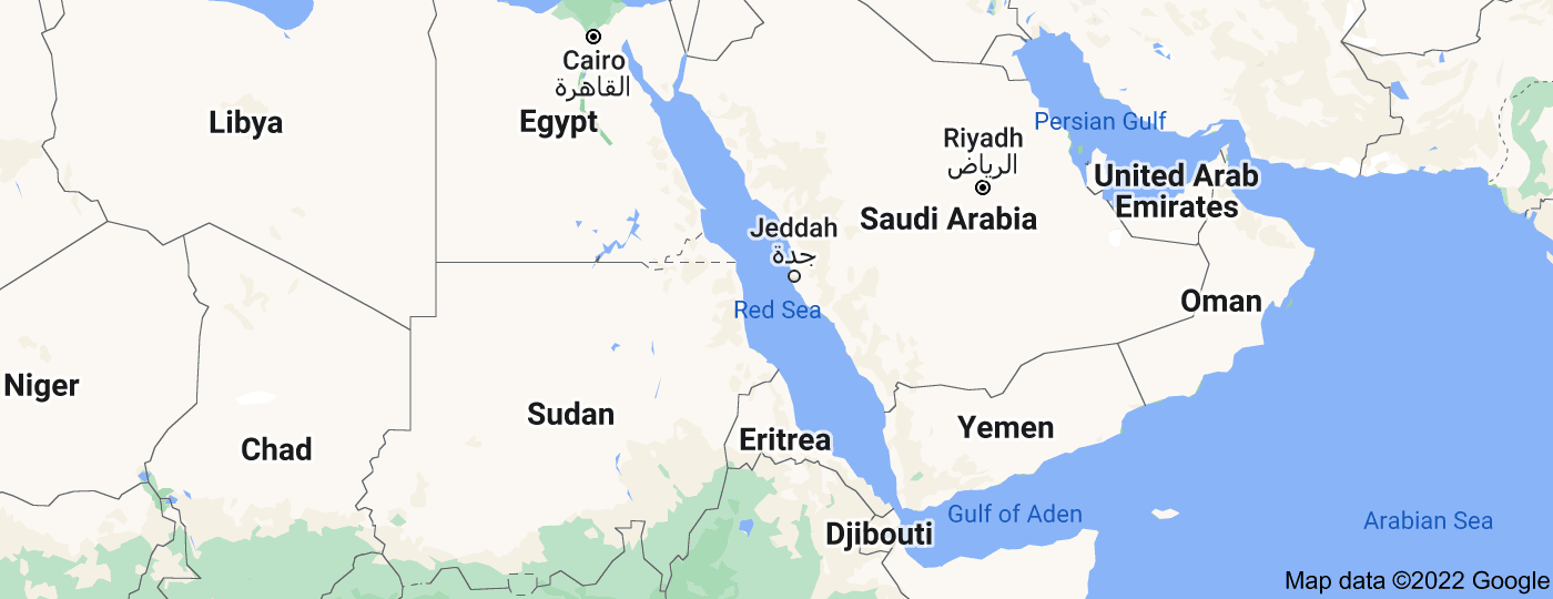 Location of Red Sea