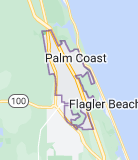 Map of Palm Coast, Florida