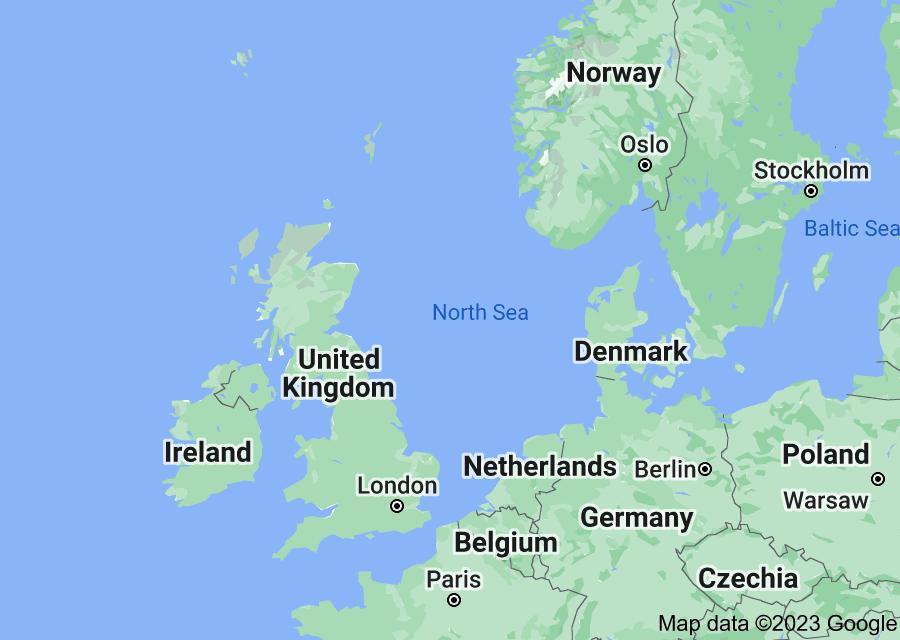 Location of North Sea