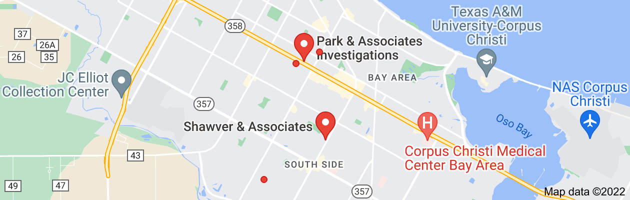 Map of private investigator corpus christi tx