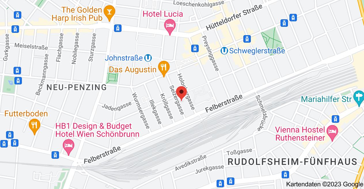 Karte von Selzergasse 10, 1150 Wien