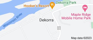 Map of Dekorra Wisconsin