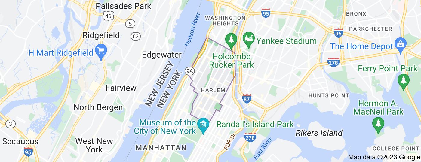 Location of Harlem