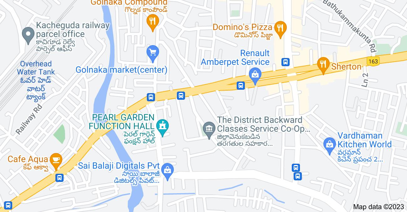 Map of Golnaka, Amberpet, Hyderabad, Telangana 500013, India