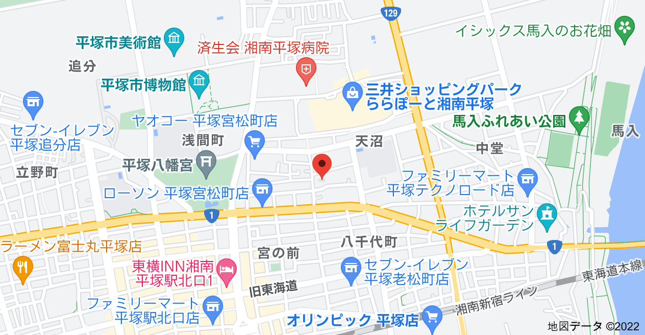 〒254-0031 神奈川県平塚市天沼8−43の地図